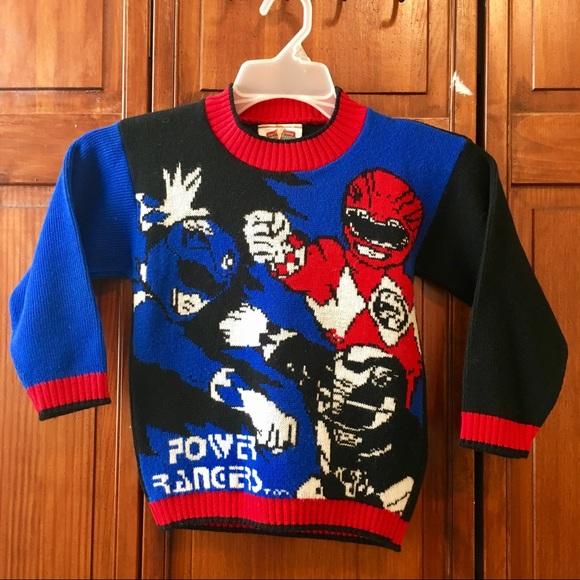 new product 7af42 081e1 Medium 1994 Vintage Power Rangers Sweater Kids
